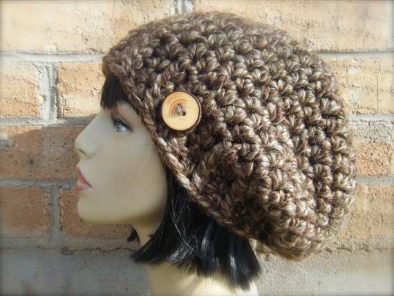 Crochet Hat Pattern Super Bulky Yarn : PATTERN: Kelsey Slouch Easy crochet PDF Adult/ teen by ...