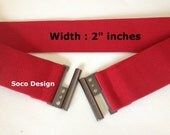 Elastic waist belt, Waist Belt, Stretch belt, Color Red, Women Waist belt