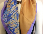 Vera Neumann Scarf With Abstract Bamboo Design