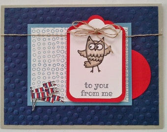Stamped, Layered, and Embossed Owl Card for Any Occasion