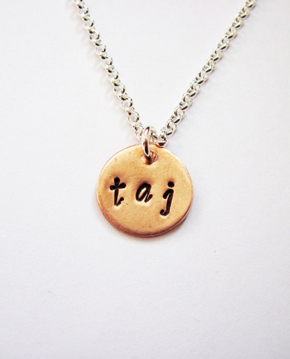 letter a initial necklace three initial necklace two or three letters on one disc 17416 | il 570xN.569544183 590b