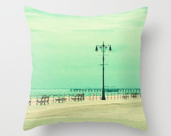 SALE Pillow cover, turquoise pillow, green mint pillow, aqua pillow, mint pillow, couch pillow, beach pillow, green turquoise, coney island