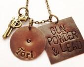 gun powder and lead hand stamped miranda lambert song
