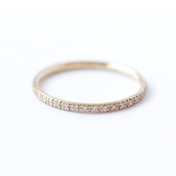 Diamond Eternity Band Eternity Wedding Band Thin Diamond