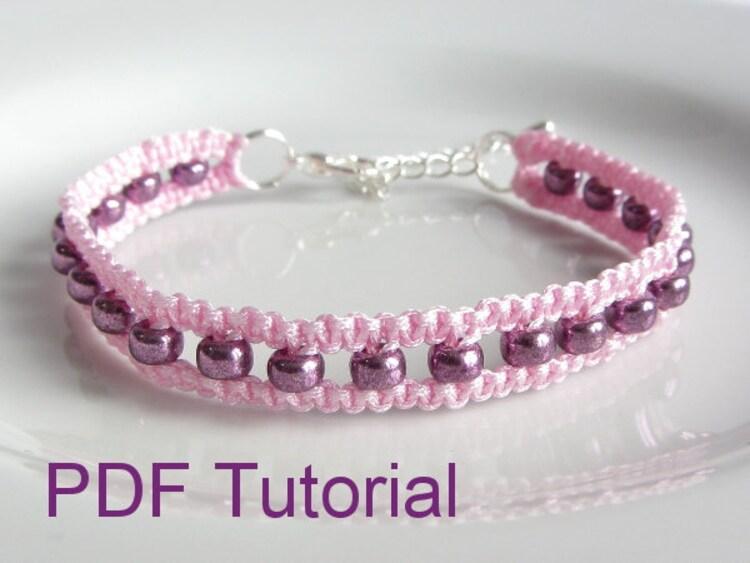Pdf Tutorial Beaded Square Knot Macrame By Purplewyvernjewels