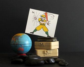 Vintage 1970s KopyKake Design Template Baseball Player Batter Sports