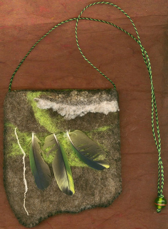 Three Norns - wet felted bag
