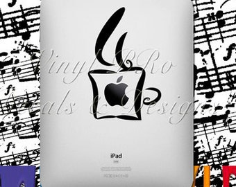 Coffee Cup ipad Caffeine Lover Latte Cappuccino Espresso Decal for ipad
