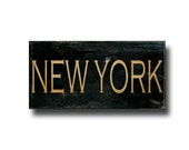 New York Sign, Canvas Art, Gallery Wrap, Typography Wall Art, Rustic Home Decor, 10x20""