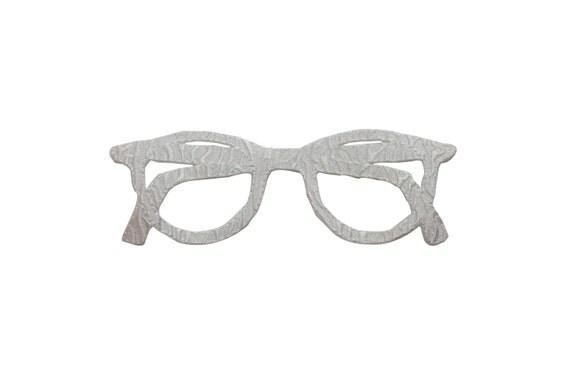 Eyeglass Frame Identification : ID 7514 White Eyeglass Frame Glasses Fashion Iron On