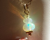 Opal Necklace, Luxurious Ethiopian Welo Opal and 14 kt Gold Fill Necklace, Tons of Flash
