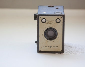 Vintage Shur Shot Box Camera, AGFA Ansco Binghamton New York