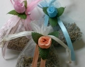Lavender Closet Sachet - Organza Bag filled with Home-Grown Dried Organic Lavender - Scented/Fragrance Item
