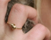KNOT A DIAMOND - ring with knot made from goldfilled wire, knot ring, gold knot