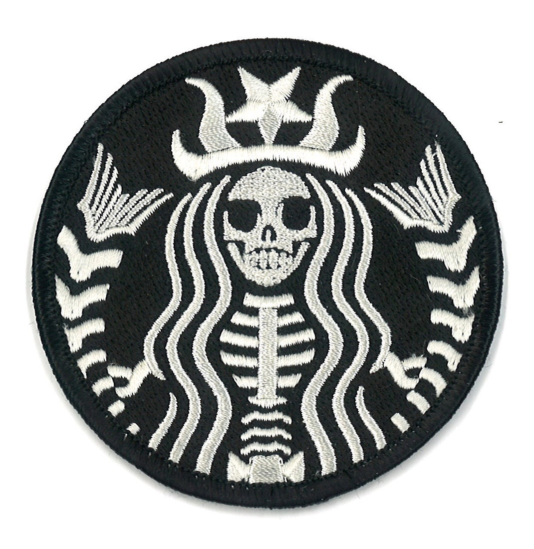 starbucks coffee dead barista embroidered patch zombie