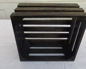 Reclaimed Wooden Storage Crate Ebony Finish, Home Decor, Wedding Decor, Kitchen Decor