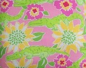 Lilly Pulitzer fabric Croc Monsieur 16 X 13 inches