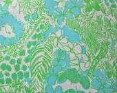 Limeade Its a Zoo cotton poplin 18 X 18 inches  ~Lilly Pulitzer~