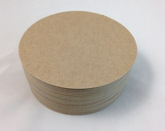 """Large 4"""" Die Cut Chipboard Circles - Coasters - 50 Count"""