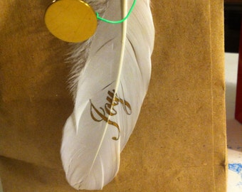 Holiday feather adornments