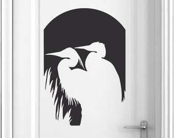 Bird Wall Decal | Wildlife Nursery | Bird Wall Decor | Wildlife Decor | Great Blue Heron Wall Art
