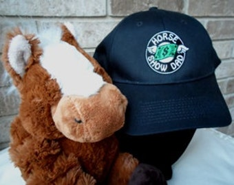 Horse Show Dad Embroidered Equestrian Cap