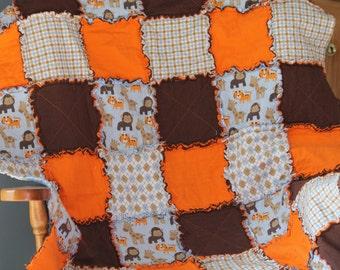 Zoo Animal Rag Quilt