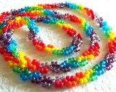 Rainbow Necklace - Beaded - Rainbow Jewelry - Free Shipping