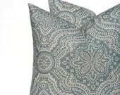 Euro Pillow Sham Blue Pillows Cushion Cover ONE 22x22 Throw pillow Cover  Toss Pillow Light Blue Pillow Slate Home Decor Housewares Sofa