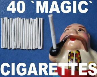 40 MAGIC CIGARETTES cigars blows smoke ring for figurine smoker trick smoking MONKEY toy