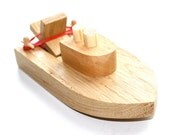 Wooden Toy Boat.  Kids Wood Bath Toy. Ready to ship.