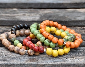 Harvest Fall 2016 Colorful Acai Beaded Bracelets by BeadRustic | FREE SHIPPING