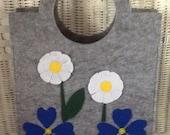 Felted Handbag - Flower Detail