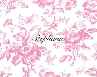 Floral Toile Note Cards, Personalized Stationery