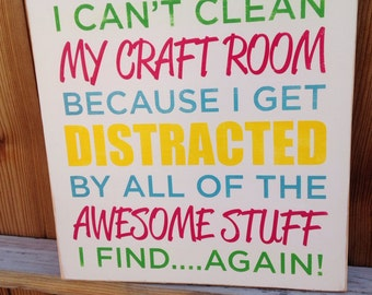 Square Craft Room Sign