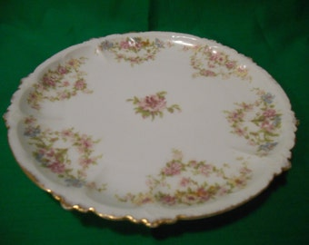 """One (1), 8 1/2"""" Porcelain Luncheon Plate, from Rosenthal, in a Floral Pattern."""