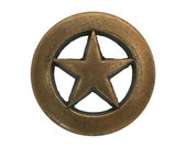 12 Ring Star 5/8 inches ( 15 mm ) Brass Color Metal Buttons