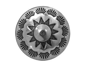 2 Sun Feathers Concho 5/8 inch ( 16 mm ) Metal Buttons