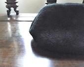 Darkness  Black Wool Felted Clutch,  Felted Wool Bag, eco friendly, momoish made