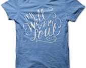 Adult S // Royal Blue // It Is Well With My Soul Shirt