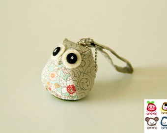Nymph - Owl Doll with a Bag: owl plush, animal doll, bird, owl decor, green, little, mini, kid, colorful, owl decoration, kawaii, iammie
