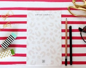 Signature Leopard // Personalized Notepad