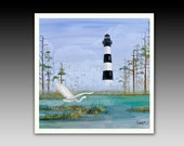 Bodie Lighthouse Ceramic Tile with Hook or Coaster