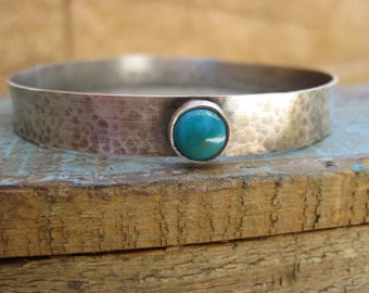 Dreamer bangle- Silver and turquosie bracelet