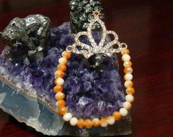 300D,Crystal Rhinestone Crown Bracelet