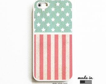 Rubber iPhone 5 Case. iPhone 5S Case. Red White Blue Geometric Flag. Phone Case. iPhone 5 Cases. Rubber Phone Case.