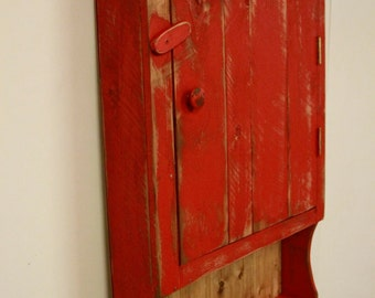 Primitive Medicine Cabinet,Bathroom,Primitive wall cabinet, Primitive kitchen cabinet, Primitive jelly cupboard, French Country wall cabinet