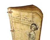 Paris Travel Journal, Anniversary Journal, Romantic Paris Diary, Vintage Paris, Shabby Chic Scrapbook, Parisian, French Journal