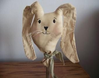 Primitive Grungy Spring Rabbit Easter Bunny Bobbin