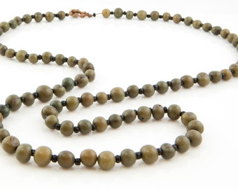 Acai Seed Necklace / Grey Necklace / Long Necklace / Acai Seed Jewelry / Seed Jewelry / Fair Trade / Long Layering Necklace / Acai Necklace